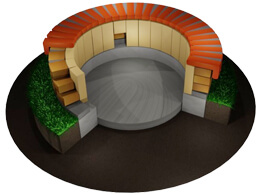 Wie bauen Sie eine Feuerstelle aus Schamottesteinen?