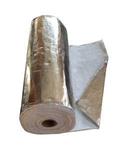 Aluminium Beschichtete Isolierung - Schornsteinrohr-Wickelmatten 1M x 12mm - VITCAS
