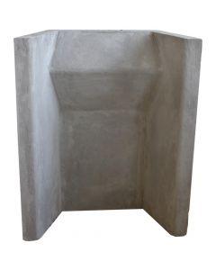 Hitzebeständige Kaminrückwand aus Beton - VITCAS