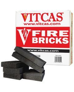 Schamotteziegel Schwarz 6-Pack für Öfen & Kamine - VITCAS